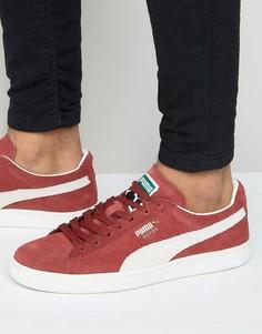 Красные замшевые классические кроссовки Puma 35263475-Красный