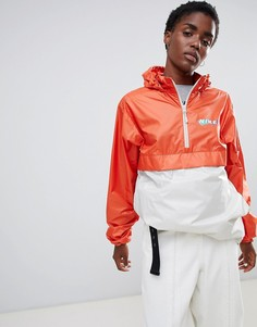 Оранжевая ветровка колор блок с логотипом Nike Sb-Оранжевый