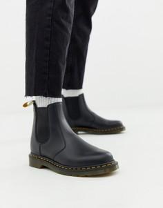 Черные ботинки челси из гладкой веган-кожи Dr Martens 2976-Черный