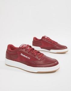Красные кроссовки Reebok Club C 85 Essential CM8792-Красный