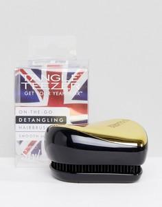 Черная/золотистая профессиональная компактная щетка-стайлер для путающихся волос Tangle Teezer-Бесцветный