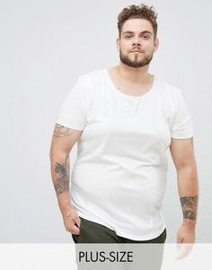 Белая футболка Lee plus-Белый