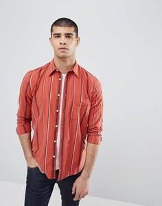 Рубашка в полоску Nudie Jeans Co Sten-Красный