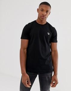 Черная узкая футболка с логотипом-зеброй PS Paul Smith-Черный