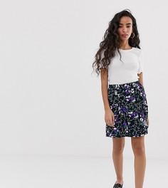 Мини-юбка с цветочным принтом Vero Moda Petite-Мульти