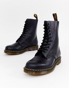 Черные ботинки с 10 парами люверсов Dr Martens 1490-Черный