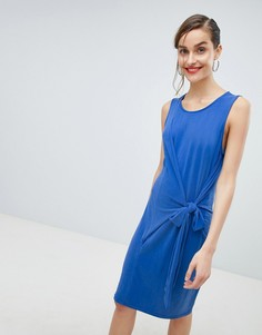 Синее платье мини с завязкой на талии Selected Femme-Синий