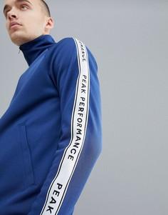 Темно-синяя спортивная куртка с отделкой кантом Peak Performance Tech Club-Темно-синий