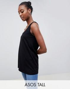 Удлиненная майка ASOS TALL-Черный