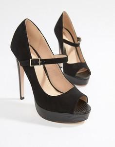 Туфли на платформе с открытым носком Miss KG-Черный