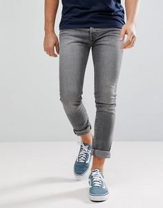 Серые выбеленные джинсы скинни с классической талией Levis 501 - simpson-Серый