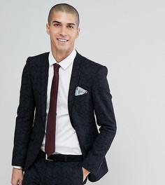Супероблегающий пиджак из ткани с добавлением шерсти и принтом Heart & Dagger-Черный
