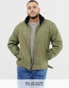 Куртка с меховым воротником Ringspun PLUS-Зеленый