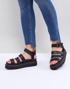 Черные сандалии из искусственной кожи на толстой подошве Dr Martens Blaire-Черный