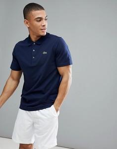 Поло темно-синего цвета с логотипом Lacoste Sport-Темно-синий