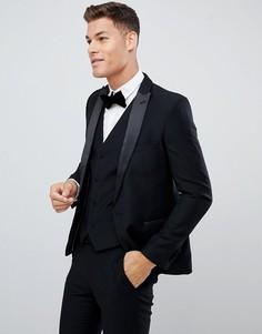Приталенный пиджак-смокинг French Connection-Черный