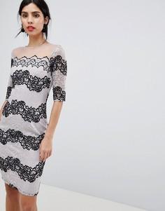 Облегающее кружевное платье Little Mistress-Черный