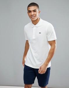 Поло белого цвета с логотипом Lacoste Sport-Белый