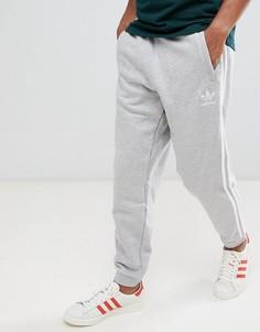 Серые джоггеры с 3 полосками adidas Originals-Серый