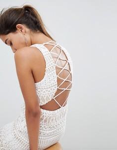 Платье мини Love Triangle-Белый