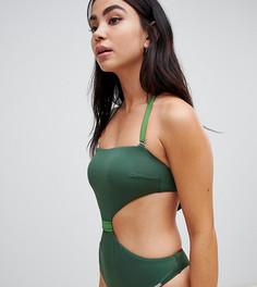 Эксклюзивный зеленый слитный купальник Free Society