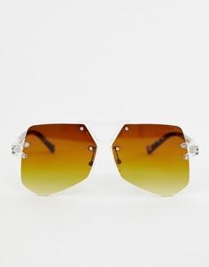 Черные солнцезащитные очки-маска 7X-Черный