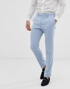 Синие брюки скинни ASOS DESIGN wedding-Синий