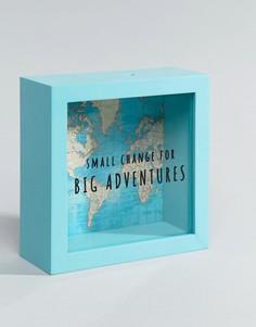 Винтажная копилка с принтом карты мира Sass & Belle Big Adventures-Мульти