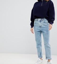 Мраморные узкие джинсы в винтажном стиле 80-х с завышенной талией ASOS DESIGN Petite Farleigh-Синий