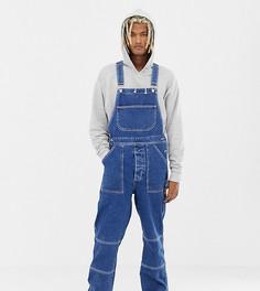 Выбеленные джинсовый комбинезон COLLUSION-Синий