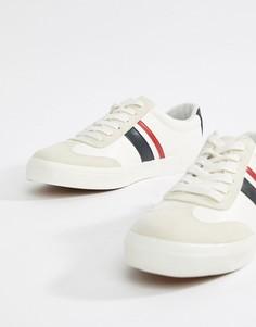 Белые кроссовки в стиле ретро с темно-синими и красными полосками ASOS DESIGN-Белый