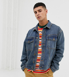 Выбеленная синяя джинсовая куртка COLLUSION-Синий