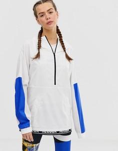 Белая спортивная куртка колор блок Reebok-Белый