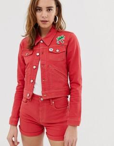 Красная джинсовая куртка Pepe Jeans Frida-Красный