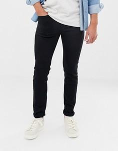 Черные эластичные джинсы скинни Selected Homme-Черный