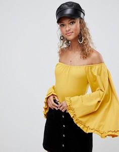 Боди с открытыми плечами Glamorous-Желтый
