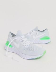Белые кроссовки Nike Running Epic React 2 Flyknit-Белый