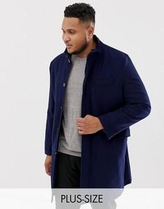 Пальто с добавлением шерсти и воротником-хомут Harry Brown Plus premium-Черный