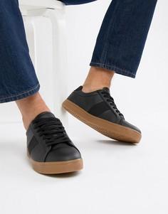 Черные кроссовки на резиновой подошве ASOS DESIGN-Черный