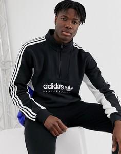 Черная куртка с 3 полосками Adidas Skateboarding-Черный