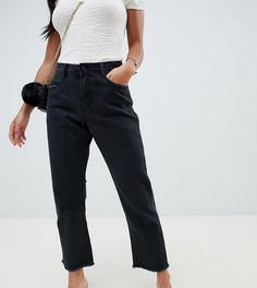 Черные джинсы прямого кроя Missguided Petite wrath-Черный