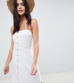 Пляжное платье бандо на пуговицах Akasa-Белый