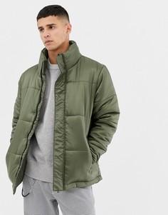 Стеганая куртка с воротником-труба Another Influence-Зеленый