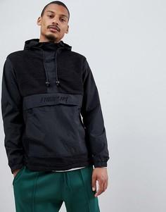 Черная куртка без застежки с капюшоном Fairplay-Черный
