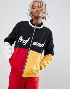 Разноцветная спортивная куртка-ветровка Profound Aesthetic-Красный