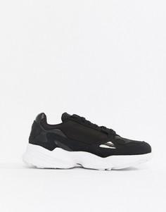 Черно-белые кроссовки adidas Originals Falcon-Черный