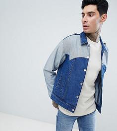 Джинсовая куртка в стиле вестерн с бахромой Sacred Hawk-Синий