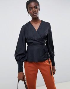 Блузка с запахом In Wear Elise-Черный