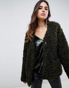 Плюшевая куртка Y.A.S-Зеленый
