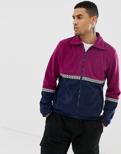 Флисовая куртка на молнии Another Influence-Фиолетовый